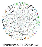 narcotic drugs exploding circle....   Shutterstock .eps vector #1029735262