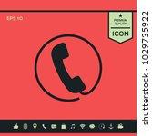 telephone handset surrounded by ... | Shutterstock .eps vector #1029735922