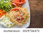 close up the menu is applied by ...   Shutterstock . vector #1029736372