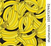 fresh bananas background. hand... | Shutterstock .eps vector #1029737992