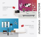 2 banner furniture sale design...   Shutterstock .eps vector #1029742348
