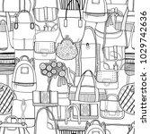 fashionable handbags. black and ... | Shutterstock .eps vector #1029742636