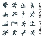 running icons. set of 16... | Shutterstock .eps vector #1029743362