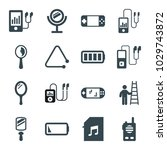 portable icons set of 16