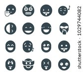 laugh icons. set of 16 editable ... | Shutterstock .eps vector #1029744082