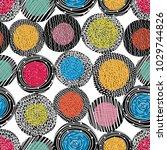 seamless pattern  polka dot... | Shutterstock .eps vector #1029744826