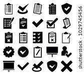 checkmark icons. set of 25... | Shutterstock .eps vector #1029745456