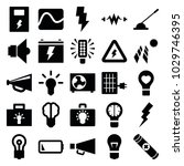 electricity icons. set of 25... | Shutterstock .eps vector #1029746395