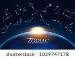 zodiac design concept astrology ... | Shutterstock .eps vector #1029747178