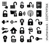 password icons. set of 25... | Shutterstock .eps vector #1029749566