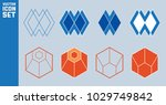 set of hexagon icons. abstract... | Shutterstock .eps vector #1029749842