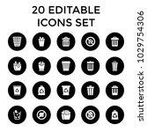 junk icons. set of 20 editable... | Shutterstock .eps vector #1029754306
