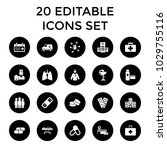 healthcare icons. set of 20... | Shutterstock .eps vector #1029755116