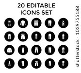 jeans icons. set of 20 editable ... | Shutterstock .eps vector #1029755188
