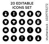 apparel icons. set of 20... | Shutterstock .eps vector #1029755272