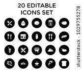 restaurant icons. set of 20... | Shutterstock .eps vector #1029755278