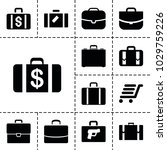 briefcase icons. set of 13...   Shutterstock .eps vector #1029759226