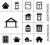 residence icons. set of 13... | Shutterstock .eps vector #1029759292