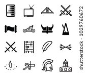 antique icons. set of 16... | Shutterstock .eps vector #1029760672