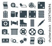 roll icons. set of 25 editable... | Shutterstock .eps vector #1029760696