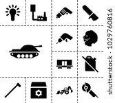 power icons. set of 13 editable ...   Shutterstock .eps vector #1029760816