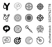 aim icons. set of 16 editable... | Shutterstock .eps vector #1029762778