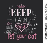 funny cats and phrase keep calm ... | Shutterstock .eps vector #1029764542