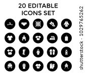 clothing icons. set of 20... | Shutterstock .eps vector #1029765262