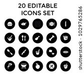 meal icons. set of 20 editable... | Shutterstock .eps vector #1029765286