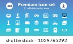 pad icons. set of 21 editable... | Shutterstock .eps vector #1029765292