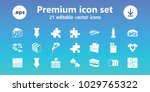 piece icons. set of 21 editable ... | Shutterstock .eps vector #1029765322