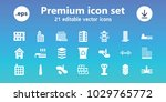 urban icons. set of 21 editable ... | Shutterstock .eps vector #1029765772