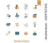 business and finance  flat icon ... | Shutterstock .eps vector #1029767242