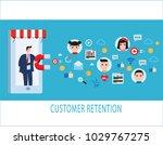 customer retention strategy ... | Shutterstock .eps vector #1029767275
