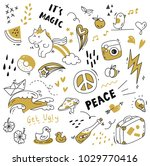 various object in doodle style   Shutterstock .eps vector #1029770416