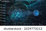 hi tech user interface head up... | Shutterstock . vector #1029773212
