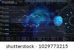 hi tech user interface head up...   Shutterstock . vector #1029773215