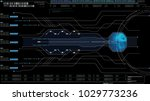 hi tech user interface head up... | Shutterstock . vector #1029773236