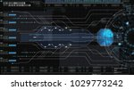 hi tech user interface head up... | Shutterstock . vector #1029773242