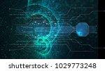 hi tech user interface head up... | Shutterstock . vector #1029773248