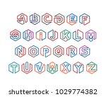 alphabet letters logo template... | Shutterstock .eps vector #1029774382