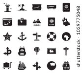 solid black vector icon set  ... | Shutterstock .eps vector #1029775048
