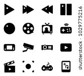 solid vector icon set   play... | Shutterstock .eps vector #1029775216