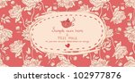 invitation vintage card with... | Shutterstock .eps vector #102977876