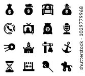 solid vector icon set   money...