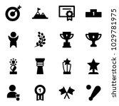 solid vector icon set   target... | Shutterstock .eps vector #1029781975