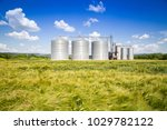 Agricultural Silo With Wheat...