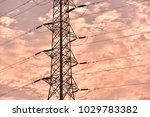 hight voltage electric towers... | Shutterstock . vector #1029783382