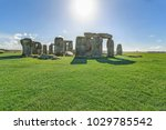 Stonehenge In Sunny Day With...