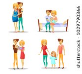 couple and child vector... | Shutterstock .eps vector #1029790366